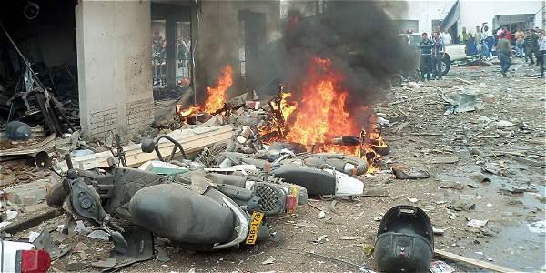 Imagen de archivo, explosión en Tumaco.