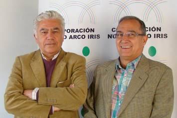 Fernando Hernández Valencia y José Aristizábal, defensores colombianos de los derechos humanos © Particular