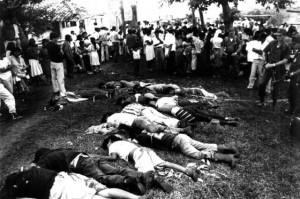 Foto: El 16 de diciembre de 1991, civiles y uniformados asesinaron a 20 indígenas de la etnia paez en la hacienda El Nilo, zona rural de Caloto (Cauca). / Archivo