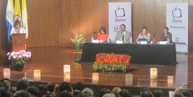 Foto CNAI/ Primer Panel del Foro, Olga Amparo Sánchez, Roberto Carlos Vidal (Moderador), Pura Sánchez, Martha Nubia Bello. 8 de Julio 2015