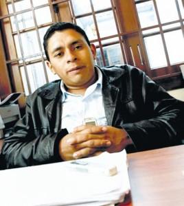 Foto de Colprensa/ Luis Fernando Arias, consejero mayor de la Organización Nacional Indígena de Colombia.