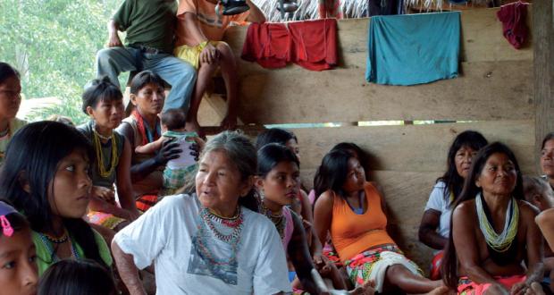 Foto tomada del Resumen Ejecutivo/ Pueblo Wounaan de la comunidad Join Phubuur, cuenca del río Cacarica, Riosucio (Chocó)