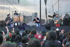 Foto: Archivo CNAI/ Banda de rock 1280 ALmas en el cierre de la inauguración