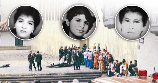 Foto: Archivo particular/ Cristina Guarín, Luzy Amparo y Luz Mary son tres de las 11 desaparecidas del Palacio de Justicia.