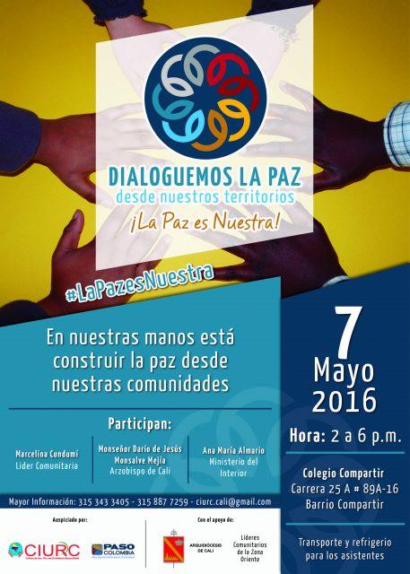 Afiche Foro Dialoguemos por la paz-01 (1)