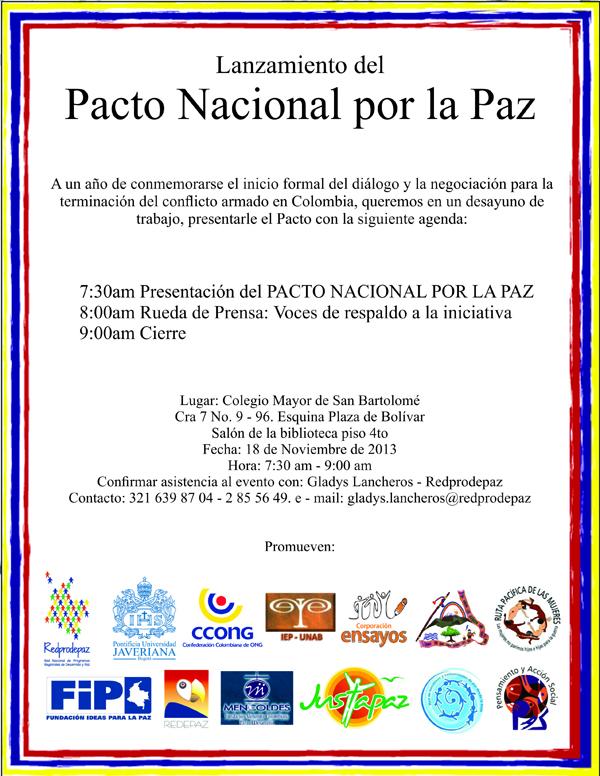 Tarjeta De Invitación Pnp Corporación Nuevo Arcoiris