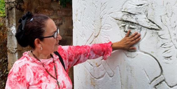 Ludivia de Echeverry, miembro de la Asociación de Víctimas de Trujillo (Afavit)