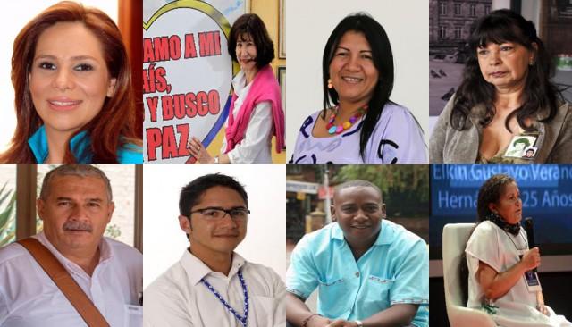 Foto: De izquierda a derecha: Angela Giraldo, Constanza Turbay, Débora Barros, Janeth Bautista, Jorge Eliécer Vásquez, José Antequera, Leyner Palacios y Luz Marina Bernal.
