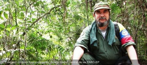 Foto tomada del portal FARC-EP/ TIMOLEON JIMÉNEZ COMANDANTE DEL ESTADO MAYOR CENTRAL DE LAS FARC-EP
