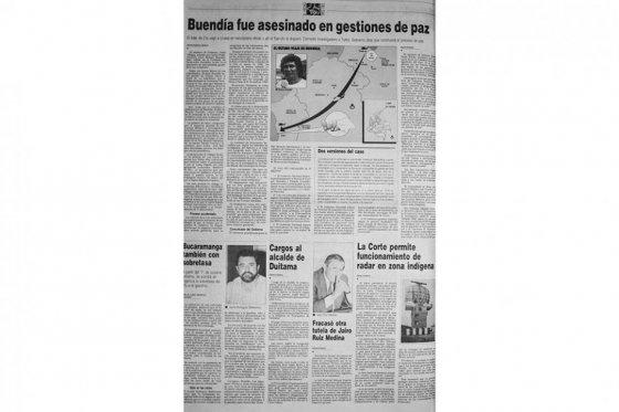 """Foto tomada del portal web El Espectador/ Carlos Manuel Prada, alias """"Enrique Buendía"""", fue asesinado en 1993"""