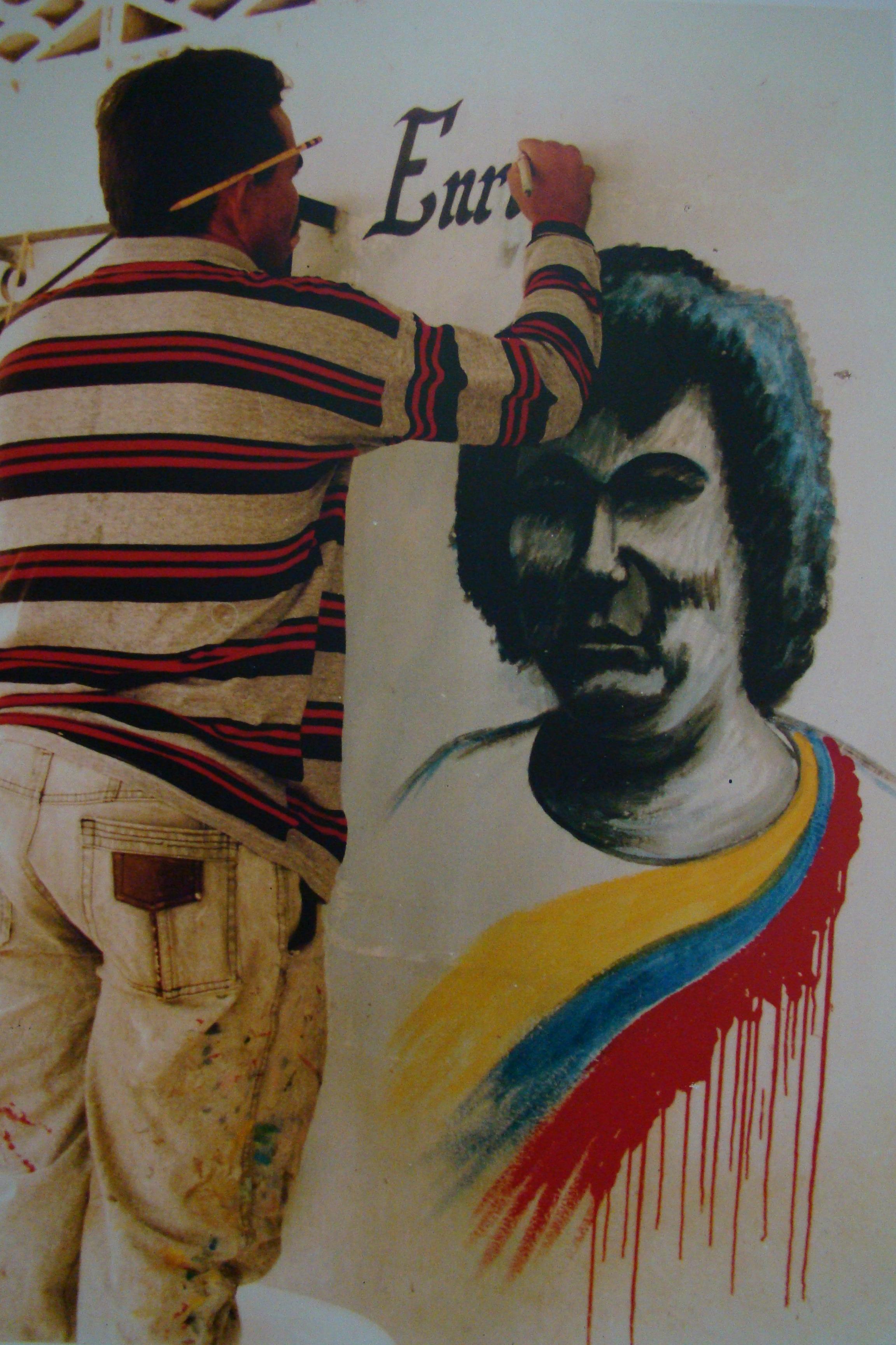 """""""Mural en homenaje a Enrique Buendía en Flor del Monte/ 1994"""""""