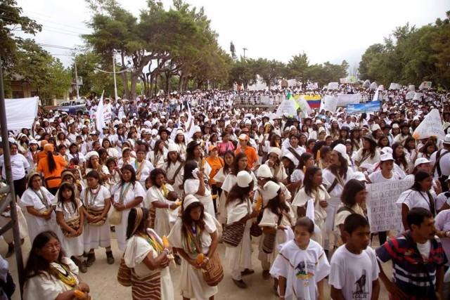 """Foto: Sebastian Paez/ Plaza Jorge Eliecer Gaitan - Pueblo Bello en cierre de campaña """"Pueblo Bello somos tod@s""""/ 22 de agosto de 2015"""