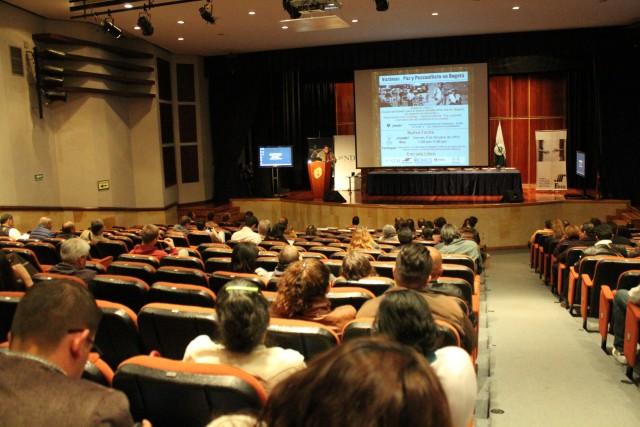 Foto: Archivo CNAI/ Auditorio Fundadores de la Universidad Autónoma de Colombia en el Foro, Víctimas, Paz y Posconflictoen Bogotá/ 9 octubre de 2015