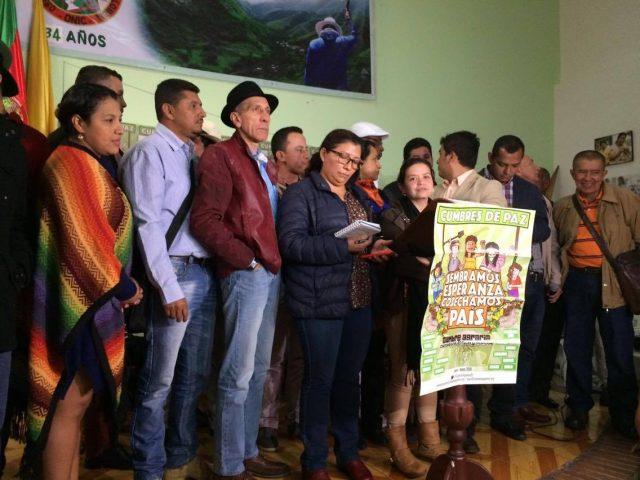 Foto: Archivo CNAI/ Rueda de prensa ONIC inicio del paro nacional 2016