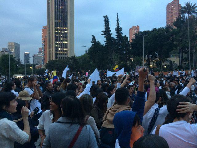 Foto; Archivo CNAI/ Marcha del silencio por la paz. Plaza de Bolívar/ Octubre 5 de 2016