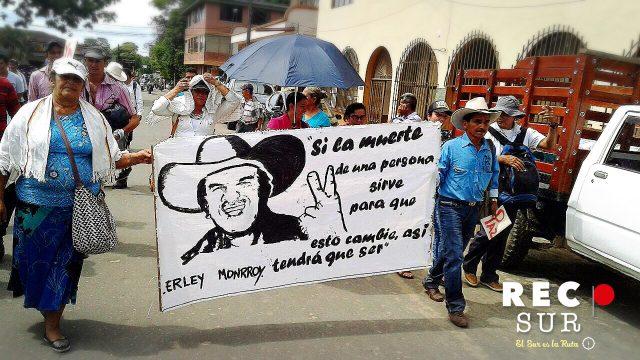 Foto: Recpsur/ Movilización por la vida y los territorios en San Vicente del Caguán/ Diciembre 2 de 2016